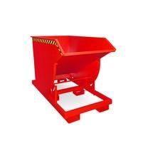 Pojemnik uchylny zmechanizmem rolkowym Premium, głęboka konstrukcja, lakierowany, bez pokrywy, pojemność 1 m³