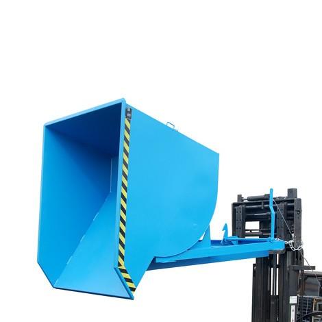 Pojemnik uchylny zmechanizmem rolkowym Premium, głęboka konstrukcja, lakierowany, bez pokrywy, pojemność 1,5 m³