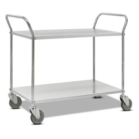 Pojízdný stolek, kompletně pozinkovaný, svislé madlo