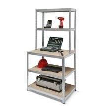 Police na pracovní stůl, zatížení dělicí přepážka 150 kg, pozinkovaná