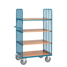policový vozík fetra® se svislými trubkovými vzpěrami, 2 stěny