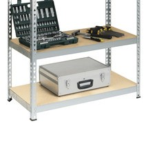 Półka do regałów półkowych BASIC, obciążenie półki 175kg, ocynkowana