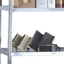 Półka do regałów półkowych META w systemie skręcanym, nośność półki 230 kg, kolor szary jasny
