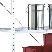 Półka do regałów półkowych META z systemem wtykowym, nośność półki 80 kg