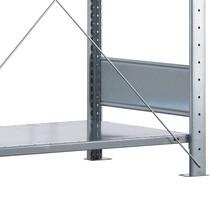 Półka ocynkowana do regałów półkowych SCHULTE, montaż wtykowy, obciążenie półki 330kg