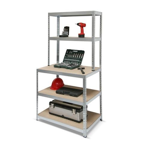 półka pośrednia warsztatowa, obciążenie półki 150 kg, ocynkowana