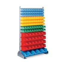 półka pośrednia z pudełkami do przechowywanie z otwartym frontem, jednostronna