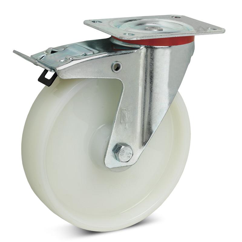 Polyamid-Lenkrolle Premium mit Feststeller, Tragkraft 150 - 350 kg