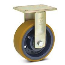 Polyurethaan bokwielen voor zware lasten Premium. Capaciteit 800- 2000 kg