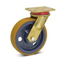 Polyurethaan-zwaarlast-zwenkwiel Premium.  Wielbody uit één stuk. 450-1100kg