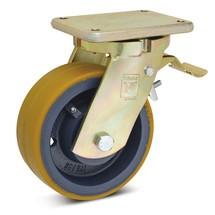 Polyurethaan zwenkwielen voor zware lasten Premium. Met vastzetrem.