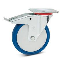Polyurethan-Lenkrollen mit Feststeller, Tragkraft 100 - 300 kg
