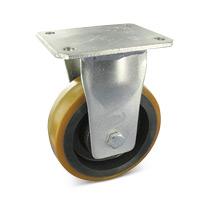 Polyurethan-Schwerlast-Bockrollen. Radkörper Guss. Tragkraft 450-1300kg