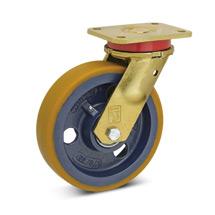 Polyurethan-Schwerlast-Lenkrollen Premium. Radkörper Guss. Tragkraft 450-1100kg