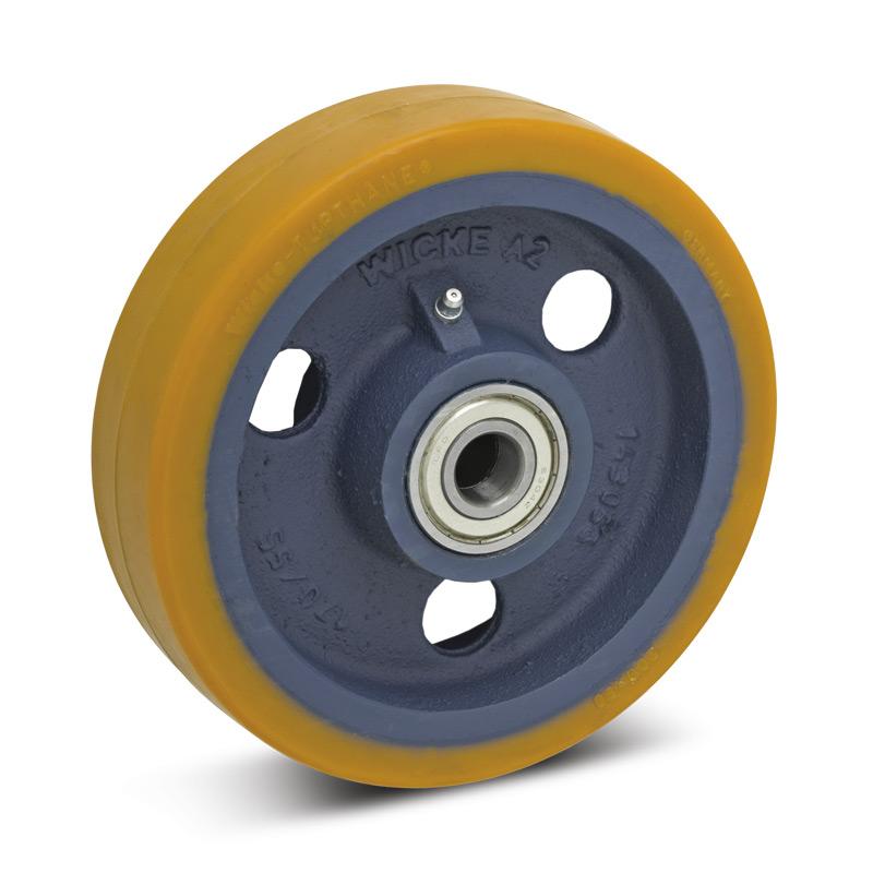 Polyurethan-Schwerlast-Räder Premium. Radkörper Guss. Tragkraft 450-1100kg