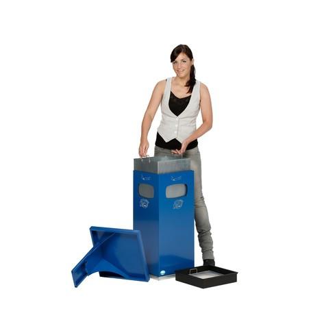 Popelník VAR® kmontáži kpodlaze, kombinovaný model