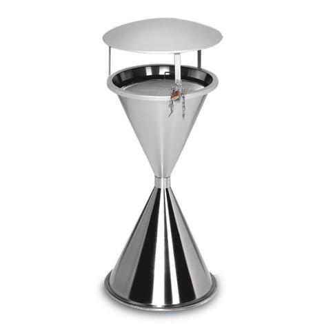 Popielniczka stojąca VAR®, ze stali stopowej, z daszkiem