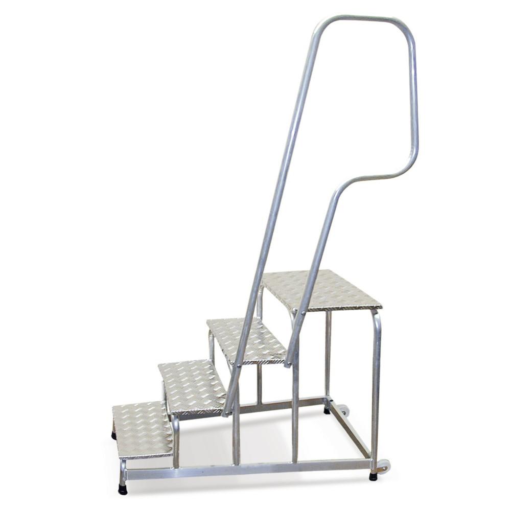 Poręcz do schodków montażowych KRAUSE® ze stopniami zkraty