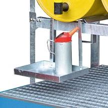 Porta-bidone per sistema scaffalatura per fusti modulare