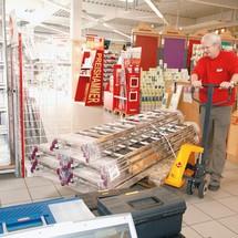 Porta-paletes manual Ameise®, 4 direções, até 2500 Kg.