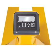 Porta-paletes manual balança Ameise®, até 2000 kg. Pesagem ocasional.