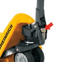 Porta-paletes manual Jungheinrich AM 22, elevação rápida, garfo curto 795/950 mm, até 2200 Kg.
