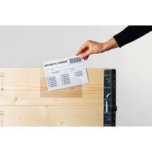 Porte-document pour cadre rehausseur, avec rabat pour l'accrocher