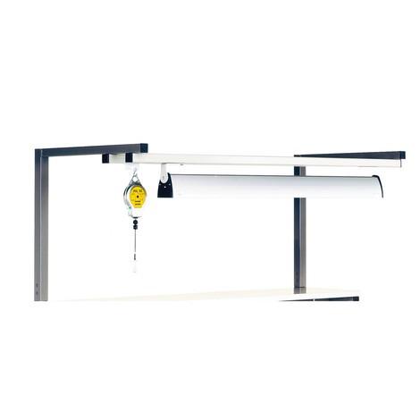 Porte-outils et rampe lumineuse pour tables de travail