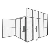 Portes coulissantes doubles pour système de cloisons de séparation TROAX®