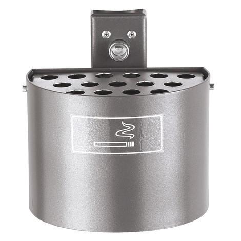 Posacenere rotondo, con paletto, senza cofano di copertura, 2 litri, zincato a caldo + verniciato a polvere