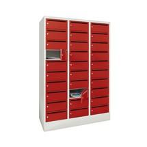 Postsorteerkast PAVOY, 3x 10 vakken, hxbxd 1.850 x 1.230 x 500 mm