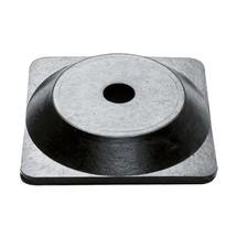 Potelet à chaîne et lot, pied en caoutchouc rigide (carré)