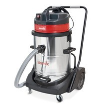 Power-industriële stofzuiger Starmix®  verchroomd. Nat + droog, 2400 watt