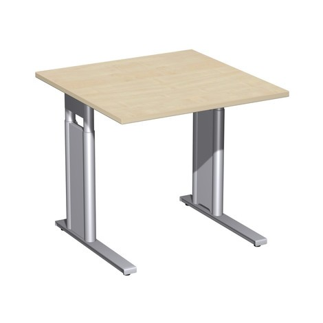 Pracovný stôl profesionálny, C-noha rám, výškovo nastaviteľný