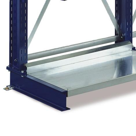 Prateleira de base para estanteria cantilever META, capacidade de carga de 500 kg