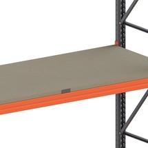 Prateleira em aglomerado de madeira para estanteria de paletização META MULTIPAL