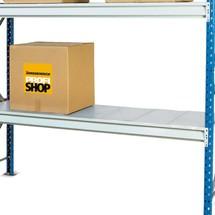 Prateleira para estanteria larga de aglomerado, com painéis de aço, carga até 880 kg