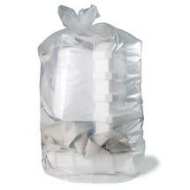 Premium afvalzakken, 1.000 liter, transparant, 50 aantal