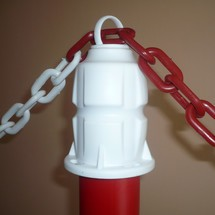 Premium set of chain posts, indoor use