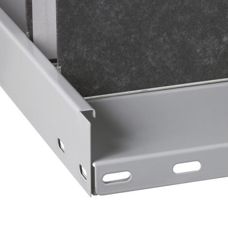 Přídavná dělicí přepážka pro regál na spisy SCHULTE, s koncovou nebo středovou zarážkou