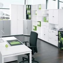 Profesjonalne biurko, 4-stopowa rama, regulowana wysokość zabudowy