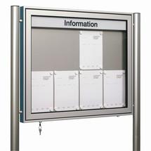 Profi-Schaukasten mit Gasdruckfeder, 2-seitig