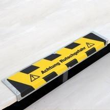 Profilé d'arête antidérapant «Attention risque de dérapage»