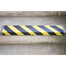 Profilé d'arête antidérapant en aluminium, noir et jaune