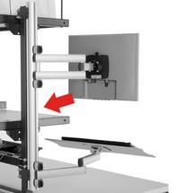 Profilleiste für EDV-Gelenkarme, für Hüdig + Rocholz Packstisch-System