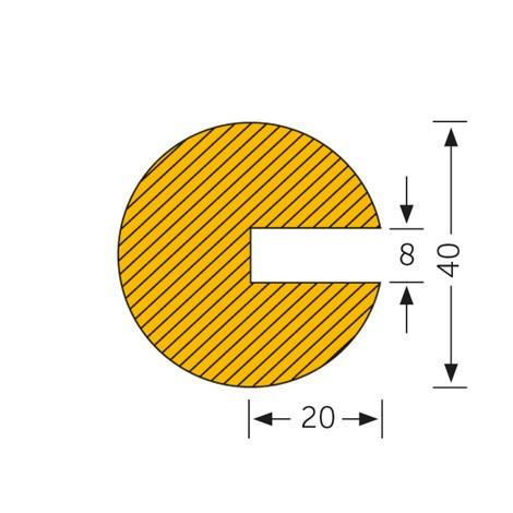 Profilskydd cirkel, för fastsättning