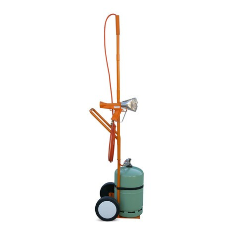 Propane gas cylinder trolley for RIPACK® 3000 shrink-wrap device