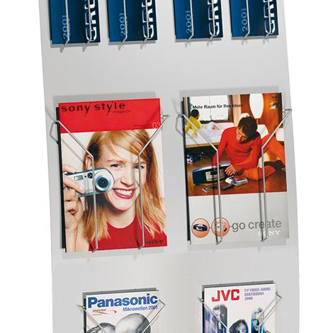 Prospektfach DIN A4 für Infosäule/-ständer