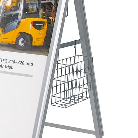 Prospektkorb für DIN A4 Blätter für Werbeständer
