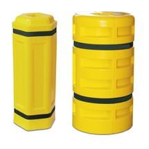 Proteção contra colisão de pilar em polietileno